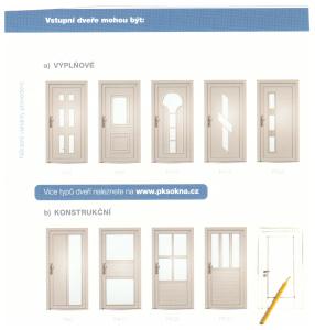 Vchodové dveře rozdělení PLAST